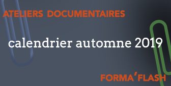 Formations documentaires - Calendrier Automne 2019 (Actu)