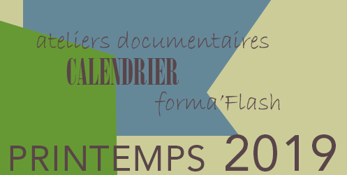 Formations documentaires - programme Pintemps 2019